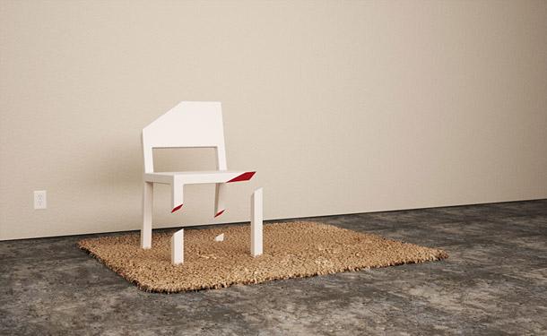 Neverovatno odsečena kreativna stolica