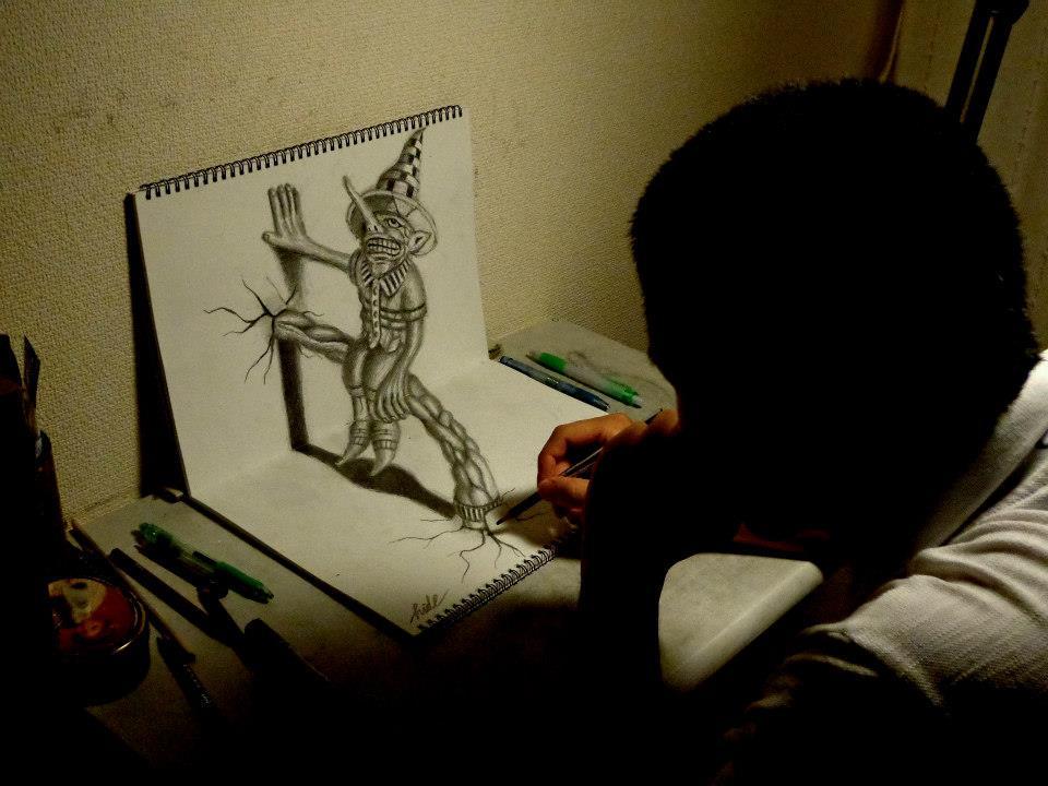 Moćni 3D Crteži sa grafitnom olovkom