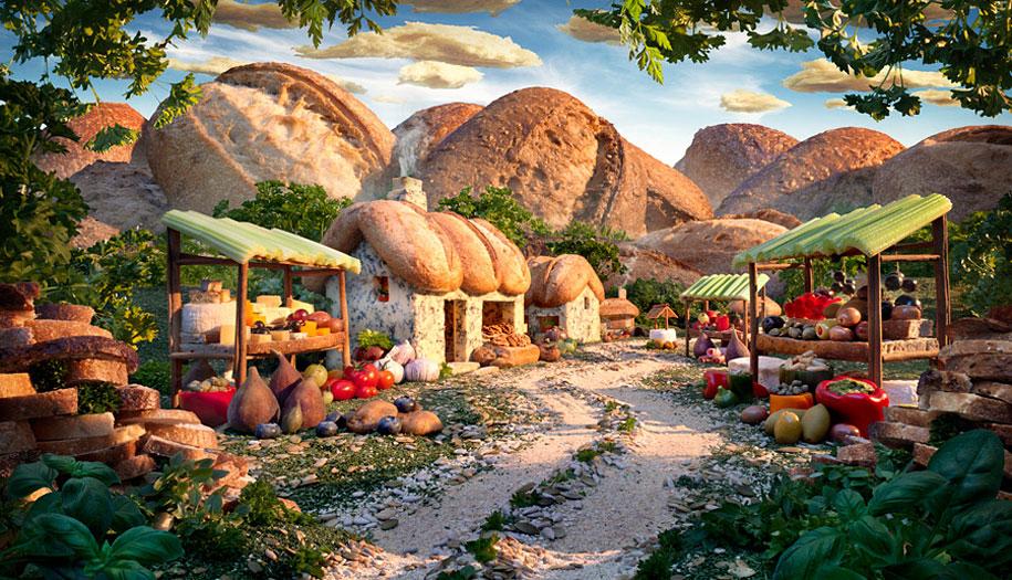 Zapanjujući pejzaži napravljeni od hrane